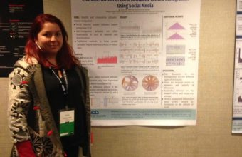 DCCS student presented a study on Twitter and Immigration at the international LA-WEB 2019 conference