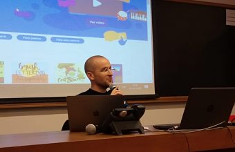 In a successful talk, Andrew Sliwinski, presented Scratch, the programming tool for children