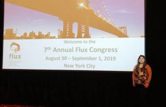 María Paz Martínez, estudiante DCCS, presenta su investigación en el Flux Congress de Nueva York
