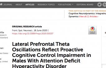 Lateral Prefrontal Theta Oscillations Reflect Proactive Cognitive Control Impairment in Males With Attention Deficit Hyperactivity Disorder
