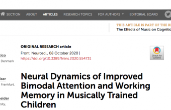 Neural Dynamics of Improved Bimodal Attention and Working Memory in Musically Trained Children