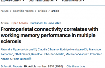 Frontoparietal connectivity correlates with working memory performance in multiple sclerosis