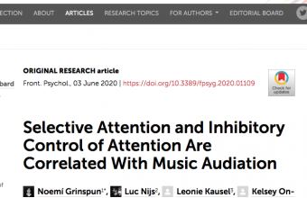 Selective Attention and Inhibitory Control of Attention Are Correlated With Music Audiation