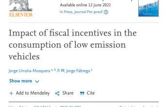 Impact of fiscal incentives in the consumption of low emission vehicles